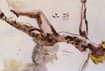 Marcin Kempski / paintings / Watercolor sketch sketchbook paper paint abstract expressionism gouache acryl  canvas oilpainting streetart modernart abstractpainting art drawing painting ink pen pencil