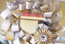 paper wreath / paper wreath