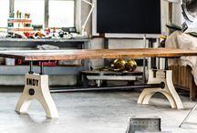 Industrial Dining Tables / This industrial dining table can be customized to your own personal requirements.