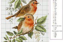haft krzyżykowy ptaki