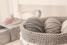 Crochet, knitting, sewing