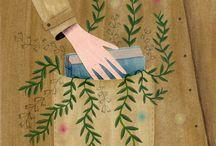 Ilustraciones mujeres y plantas