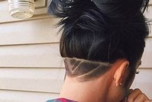 Long Hair Undercut with Desing