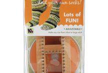 Knitting board sock loom