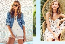 The Edit: White Isle / Fresh pairings of crisp whites and delicate blues, this is all about laid back cool with accents of lace, broiderie anglaise, and tie details. Beach-perfect with gladiators and lace-up sandals.