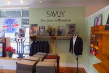 Savoy Menswear / I recently had a chance to travel to Savoy Menswear in Columbia, South Carolina own by Terrence Speaks.  I found this Men's Boutiques to be the best kept secret of South Carolina.  Savoy Menswear is one of many boutiques that are carrying S!R by Eddie Edwards brand of shirts. Savoy Menswear is a unique boutique in many ways:  It has a simple masculine look with nice wooden pieces of furniture along with nice colors in merchandise to add the right kind of a Fung Shui feel to the place.
