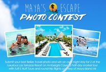 Maya's Island Escape Photo Contest / The chance to experience your dream Island Escape is here! All you have to do is enter our Facebook Photo Contest and ask your family and friends to vote for your best Belize Travel photo. The photo with the most votes at the end of the content wins! #mayasislandescape