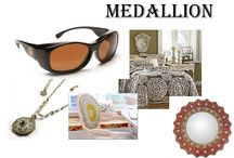 Medallion / We love medallions because they represent medals and who doesn't love an award? We all want to win the gold. Here are a few of our favorite medallion themed objects.