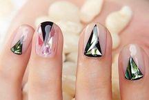Glass nailart / manicura uñas de cristal