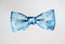Draw a bow tie. / Bow ties in art, stationery, illustration and design.