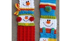 crochet scarves & mitts