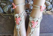 Crochet patterns footsies slippers & flipflops