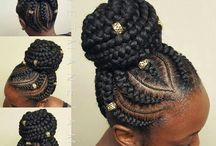 Afro hairstyle