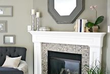 Fireplace ideas / ideas on how to re-do the fireplace or what colors to do instead.