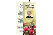 Memorial Bookmarks Printable Templates / A huge selection of memorial bookmark templates that are printable and easy to create yourself using your own computer and printer.