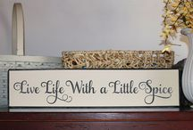 kitchen signs and wall art / by Saundra Dale