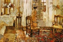 PAINTINGS OF INTERIORS / ART / by Rainer Pitsch