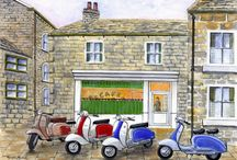 Artist 006 - Michael Milner - Prints for Sale / A Large range of prints covering various genres, all of which are post free, I take paypal - Ebay Shop Address is - http://stores.ebay.co.uk/Re-Chord - includes, Vespa, Lambretta, Land Rover