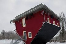 Crazy Houses / Some upside down.....others just funny looking