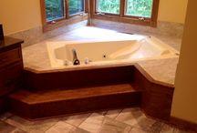 Client After Photos / Photos of client's new flooring, vinyl, ceramic, tile, carpet, backsplash, shower, tub surround, etc.