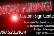 Employment Opportunities / Custom Sign Center is always looking for talented people to fill our open positions. #jobOpportunity #employment #applyNow