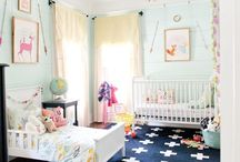 N U R S E R Y + K I D  / a board of shared rooms and spaces -- play areas and bedrooms that fit both a baby's needs and a toddler's needs.  / by Kacia   CoconutRobot