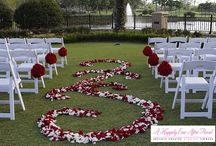 Ceremony Flowers / So many fantastic ways to decorate your ceremony. check out www.ahappilyeverafterfloral.com