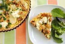 Quiche and open savoury tarts