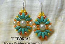 Orecchini perle unite / Colorati