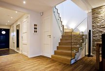 Steel & Glass / Wooden staircases with glass, and/or steel details.