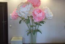 Фотозоны.Цветы из бумаги