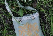 Handmade bags / Unique ornament crossbody / Fabric shoulder bags /Crossbody Boho Style Bags