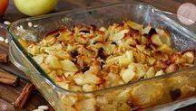 Mele gratinate al forno con noci, pinoli, uvetta, eccetera
