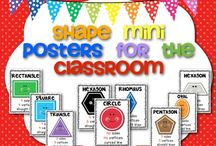 PRESCHOOL - Shapes / Free resources, printables and ideas for teaching shapes to preschoolers.