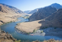 Snake River - Hells Canyon / The Snake form the deepest canyon in North America (football fields deeper than the Grand Canyon) called Hells Canyon! Multi-day rafting trips in warm water, warm weather and huge waves! Idaho's best guides prepare meals so you eat like royalty, set up camp each day before you arrive, lead nature hikes and so much more. A vacation unlike any other...go here for more info: rowadventures.com/snake
