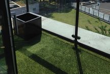 Terrace In Astroturf / Client: Private Residence In West London. Brief: To supply & install smooth floor.