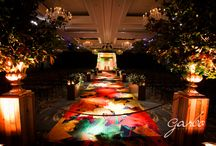 Fall at the Four Seasons / cool, contemporary twist on a fall wedding with video mapped imagery everywhere!  It was so much fun doing this one!