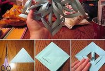 Paper Christmas Decorations / I really want to make paper xmas decs this year, I have made a few already but I'm collecting ideas for more! / by Kathie Gray