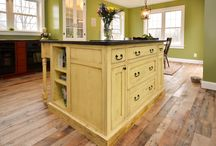 Reclaimed Barnwood Islands / A wooden island is often the heart of your kitchen. It's the place where vegetables are chopped, stories are shared, and organizing for the week ahead happens. We can help you create a kitchen island that perfectly meets your needs, style and budget.