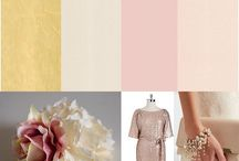 Pink + Gold romantic portrait Mood Board
