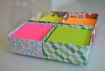 Caixinha de Origami para Post It
