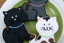 Cookie art cats