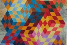 Quilts with illusions