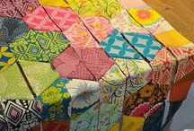 Quilts, hexagons