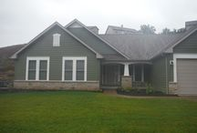 Mountain Sage Hardie Siding   New Construction   Valley Park, MO. (63088) / This is a new home that had James Hardie Lap Siding in Mountain Sage installed. It also featured Arctic White Trim.
