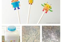 Crafty Kids / Kids crafts and art projects that are awesome play ideas! / by Holly Homer