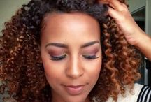 Natural hair dyed colours
