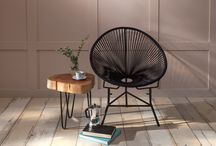 Lifestyle / Olivia rope chair with a live edge George side table