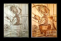 Pyrography / Hand-crafted woodburnings done Errant Crafters
