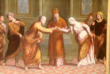 Paris Bordone, Sposalizio della Vergine. 1540 circa / Paris Bordone, Sposalizio della Vergine. 1540 circa. Eseguito a Venezia. Caen, musée de beaux arts
